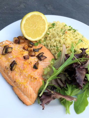 trout-with-couscous-and-salad