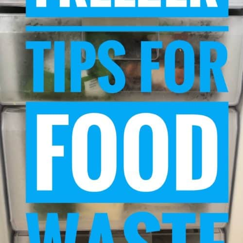 freezer tips for reducing food waste