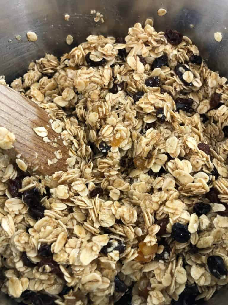 oats dried mixed fruit mixture for flapjacks