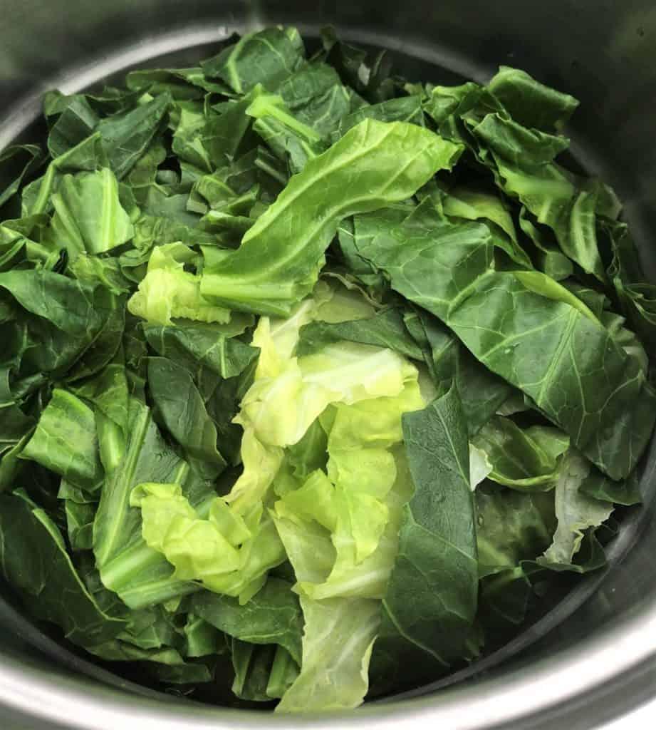 cabbage in steamer