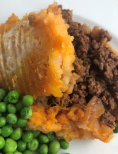 Cottage Pie with peas