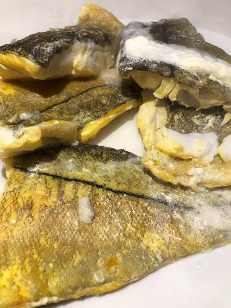 cooked smoked haddock on plate