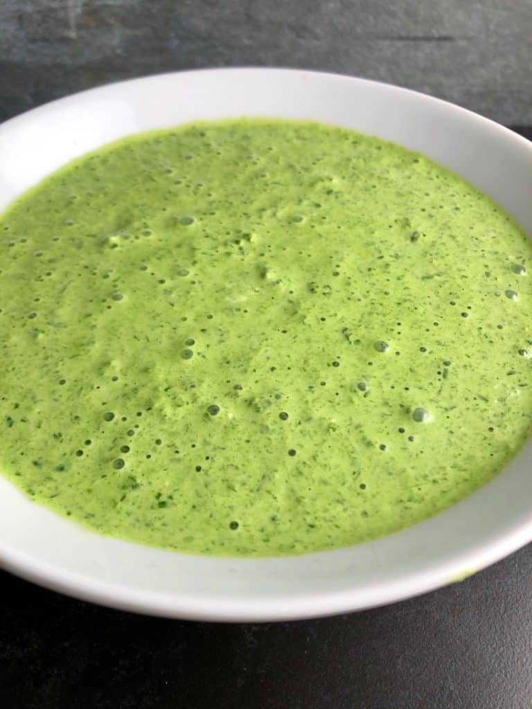 cream cheese and spinach sauce