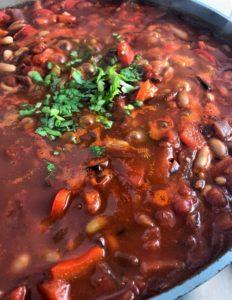 Spicy bean goulash