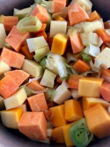 chopped veg for vegetable stew