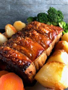 Roast Pork Loin on plate