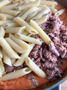 tuna pasta bake penne tuna added to sauce
