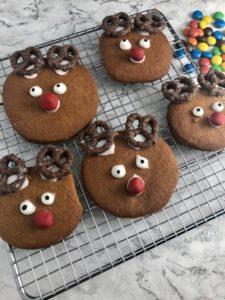 Christmas Reindeer Gingerbread Biscuits