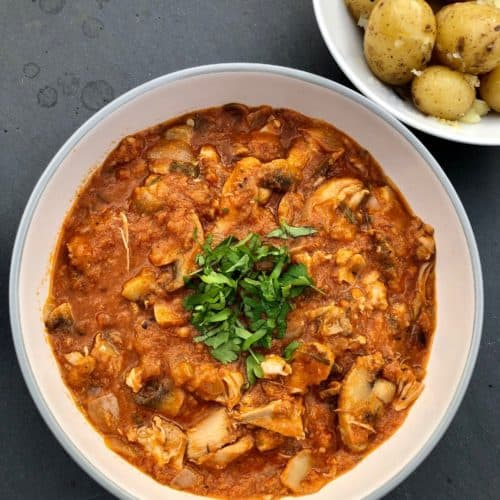 Chicken Chasseur with potatoes