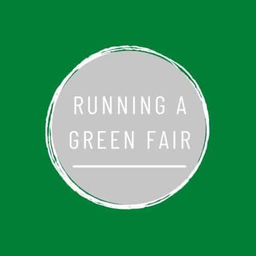 running a green fair text on green background